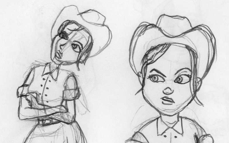 Cowgirl sketches