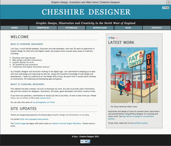 Image of Current Cheshire Designer home page